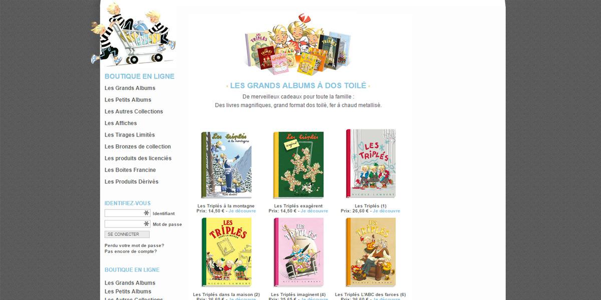 Acheter la Bande dessinée les Triplés sur le site internet e-commerce créé par Antiopa près de Saint Nazaire