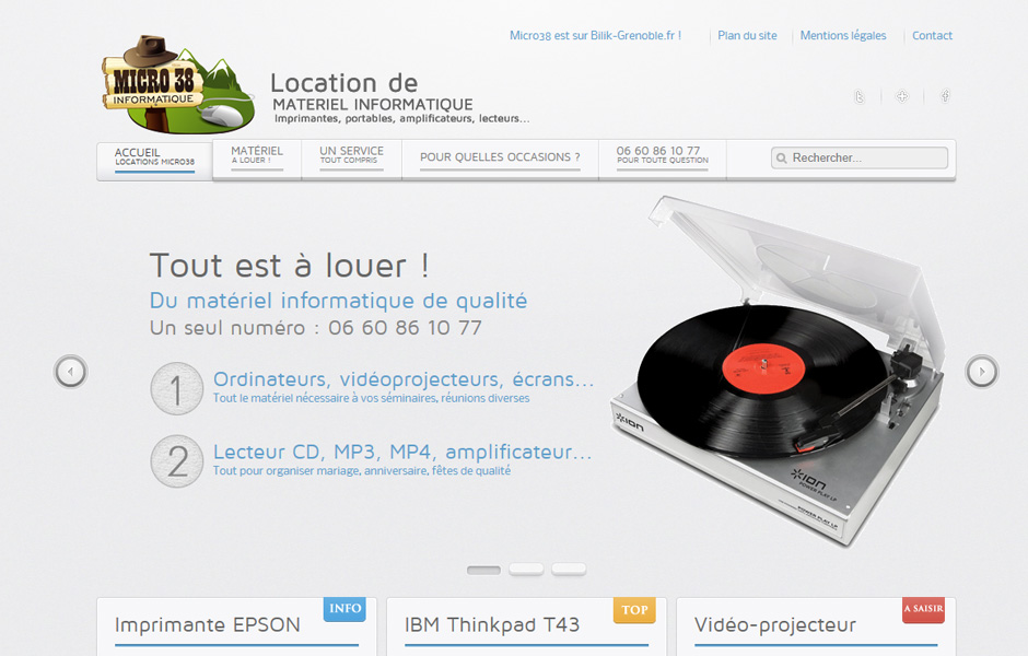 Location Micro 38 près de Grenoble (38)