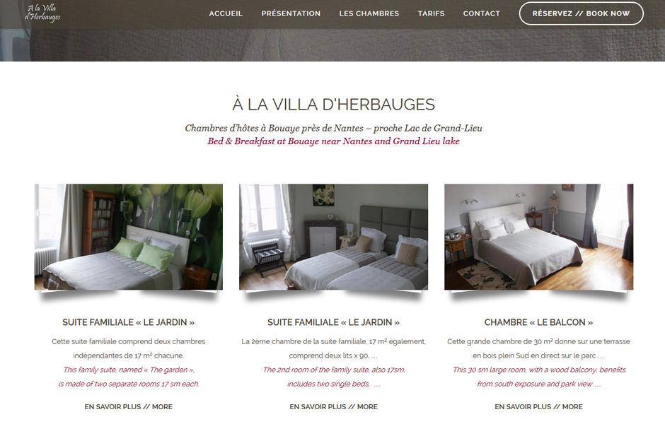 Villa Herbauges Site internet antiopa : Chambres d'hôtes à Bouaye près de Nantes
