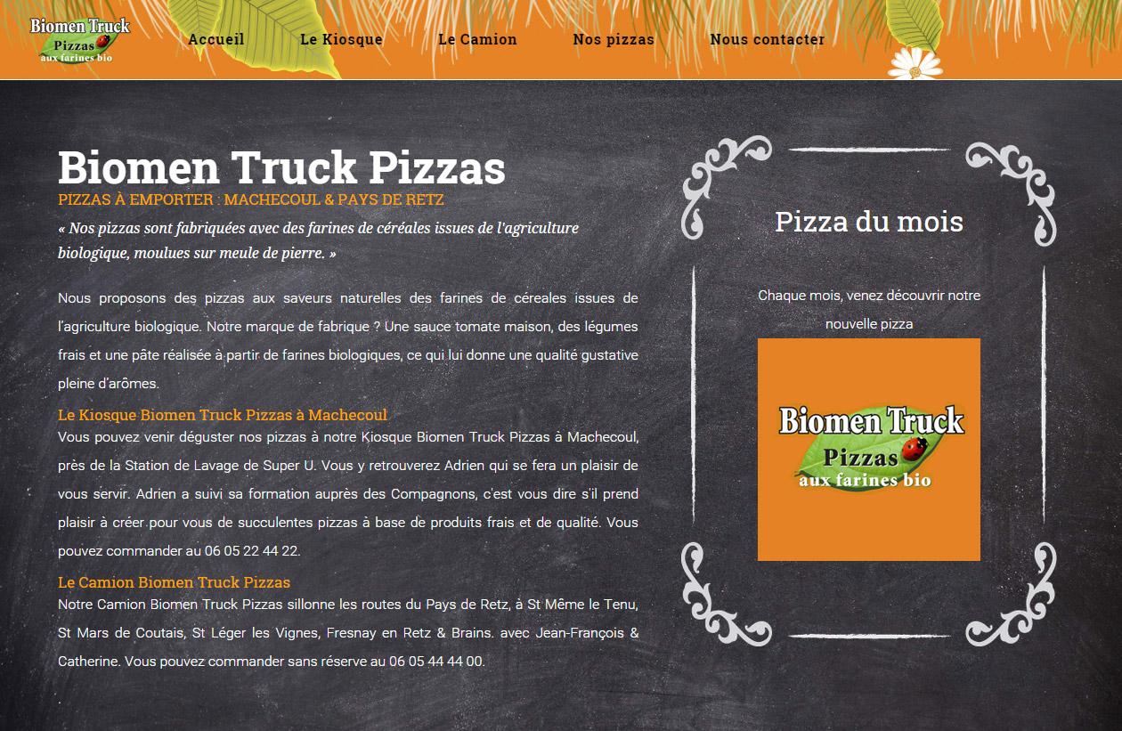 Biomen Truck Pizzas Machecoul Pays de Retz