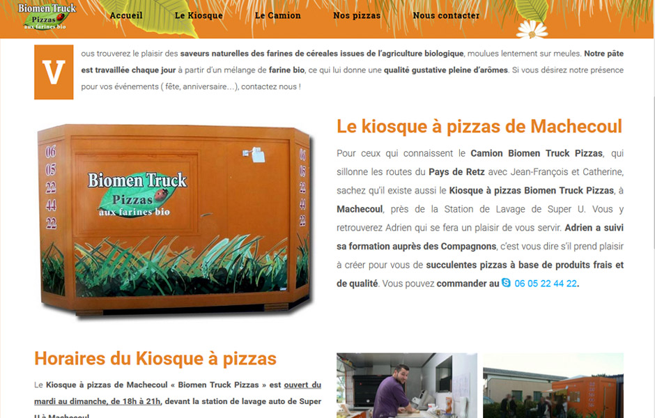 site internet antiopa biomen truck pizzas