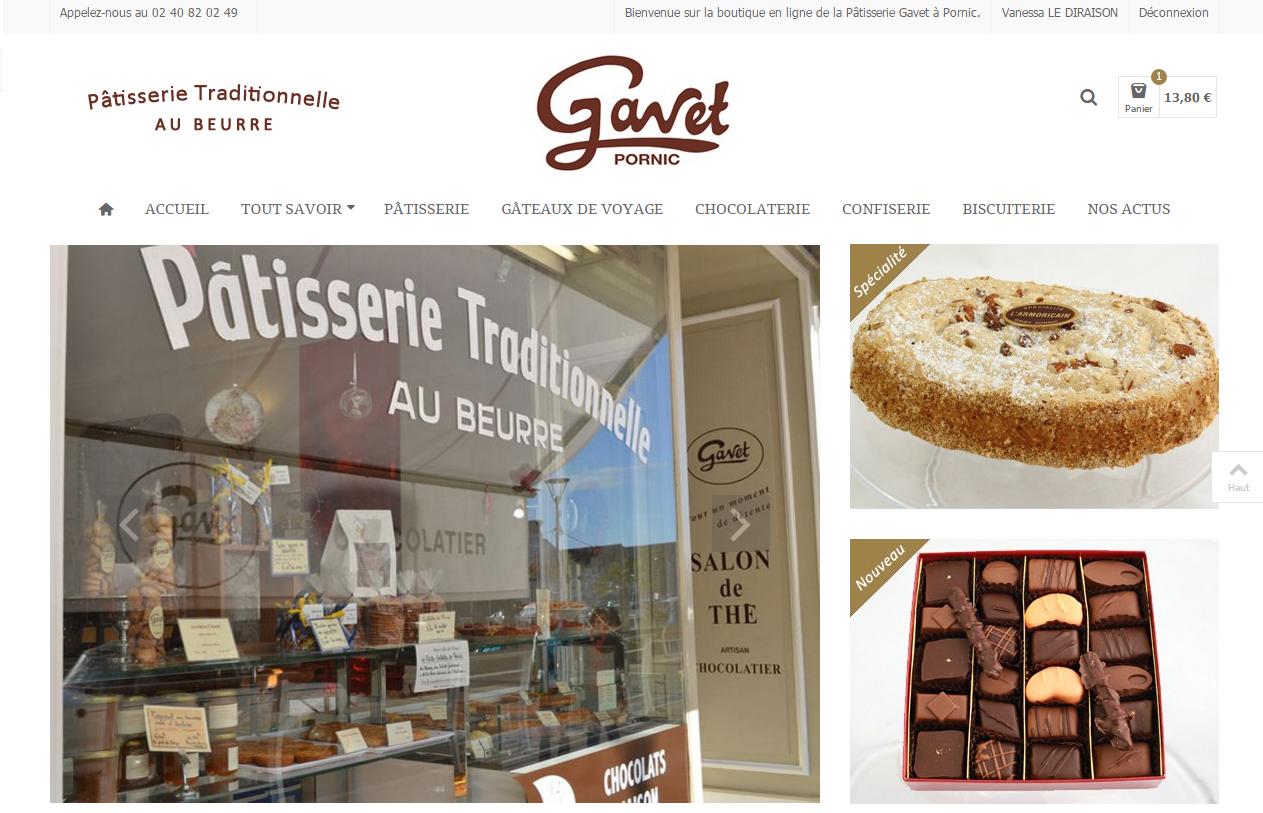 Pâtisserie Gavet Antiopa Pornic Nantes 44