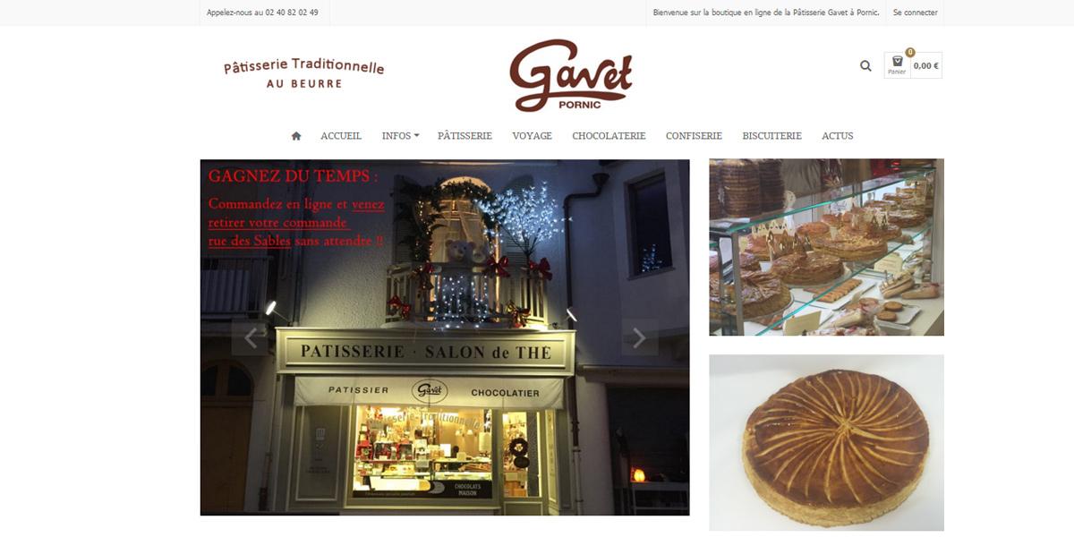 Pâtisserie Gavet, site internet Pays de Retz
