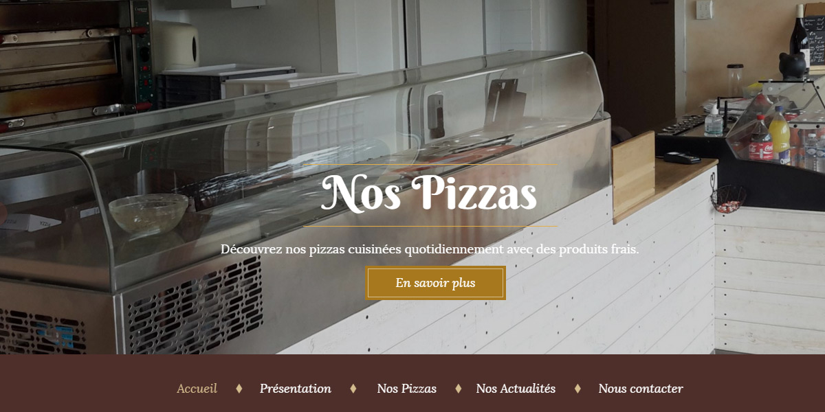 Antiopa creation du site de la pizzeria le savoyard - Bouaye