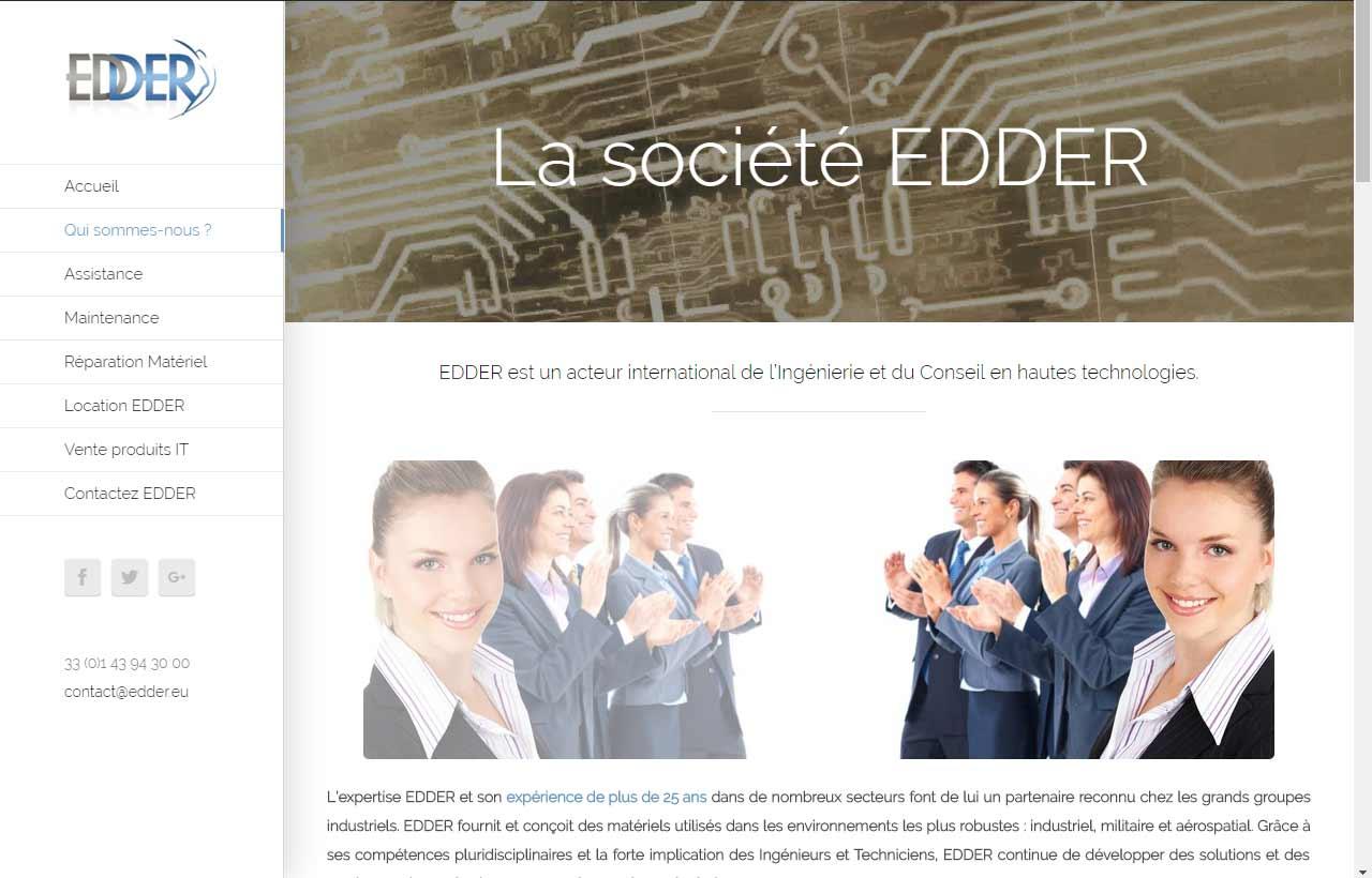 EDDER, société de conseils en hautes technologies à Paris