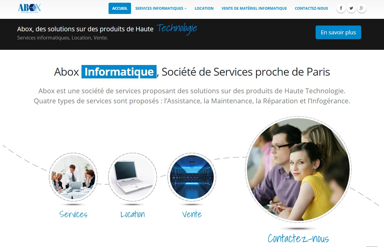 Abox Informatique Genève Site Internet antiopa