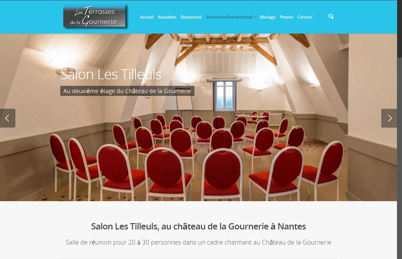Les Terrasses de la Gournerie loue ses salles à Saint Herblain dans le château