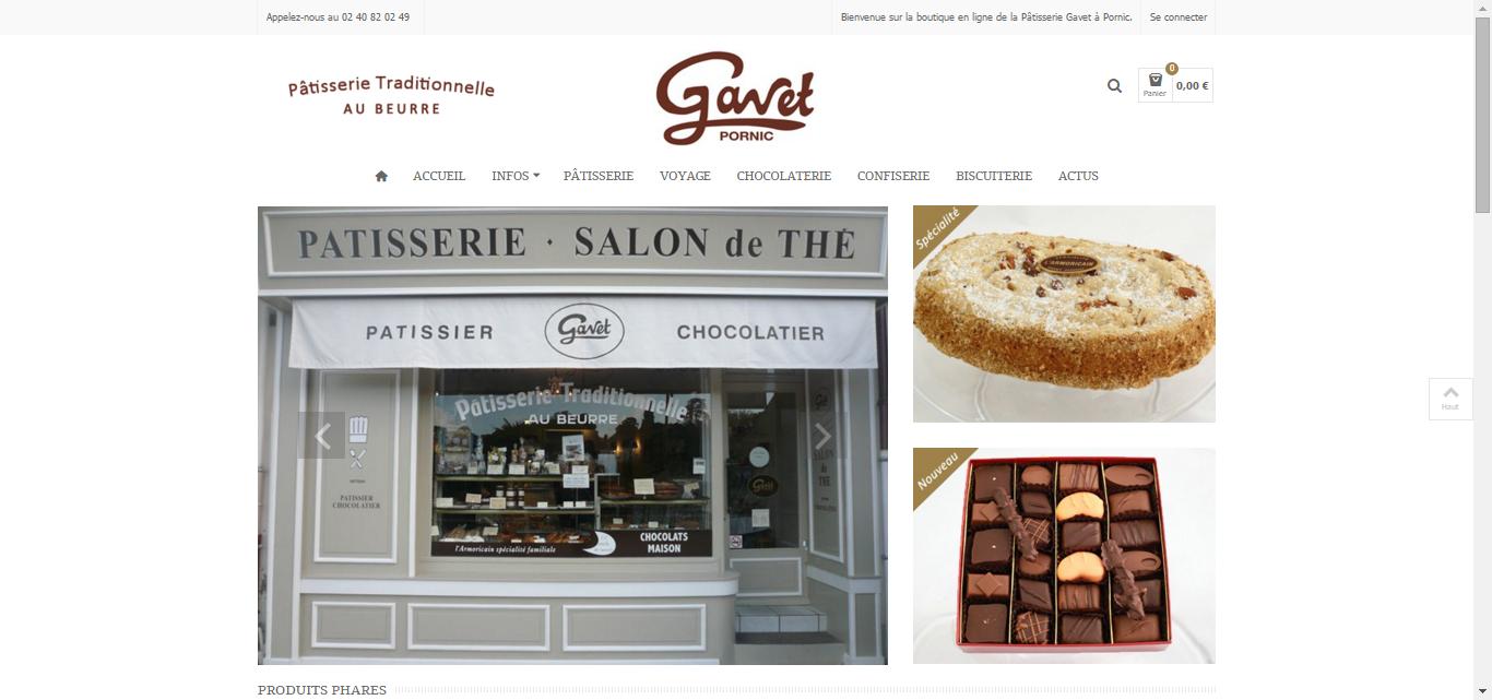 Antiopa, Référencement du site web de la Pâtisserie Gavet à Pornic