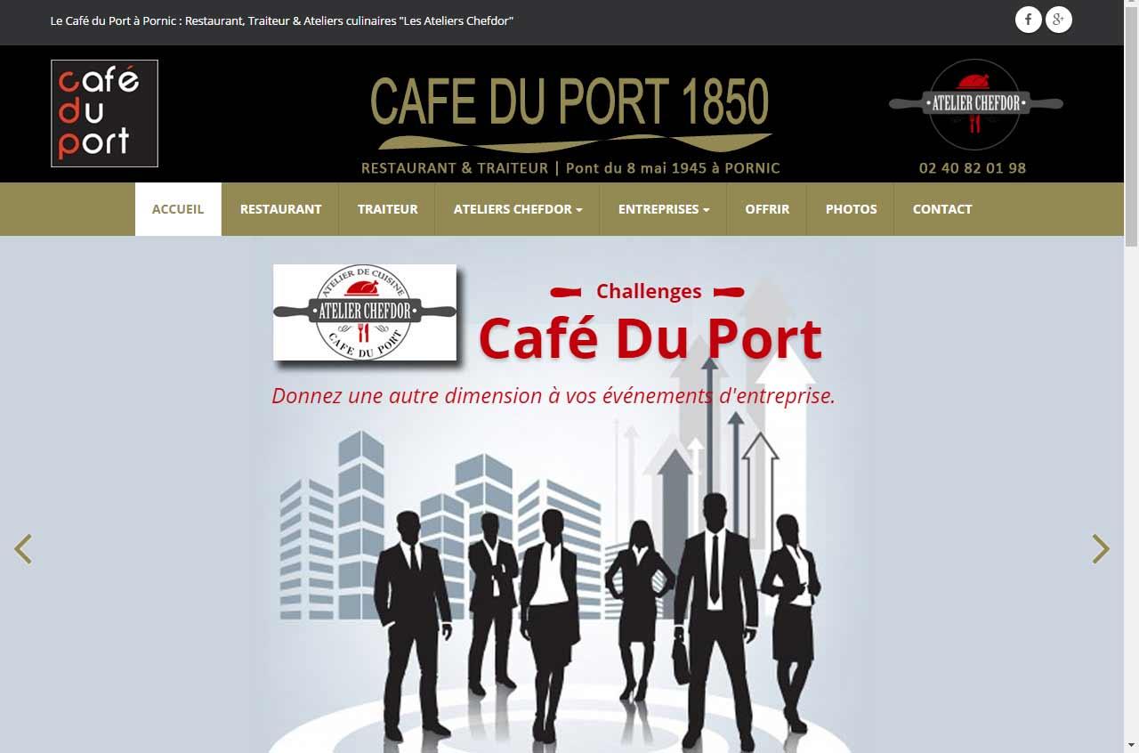 Café du port à Pornic, site internet par Antiopa