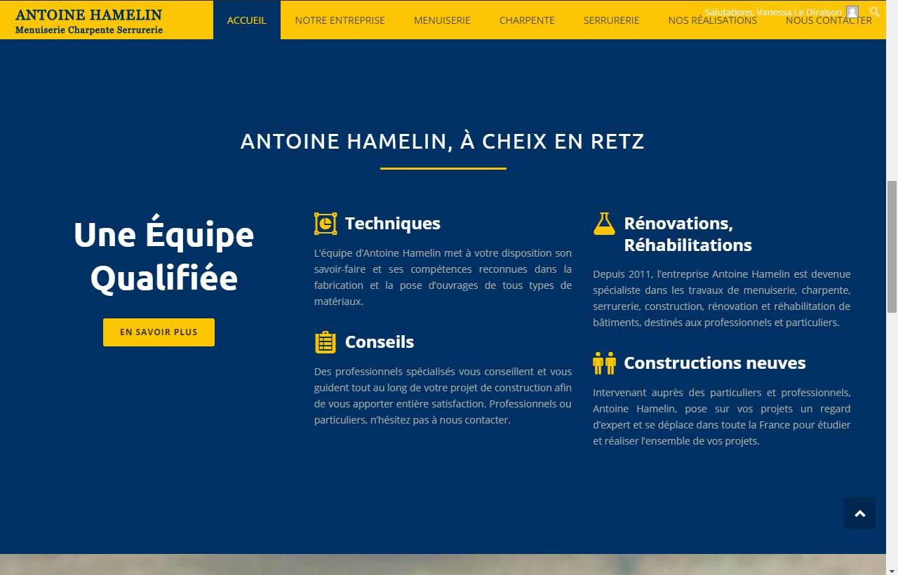 Contact société A. Hamelin, menuisier près de Nantes