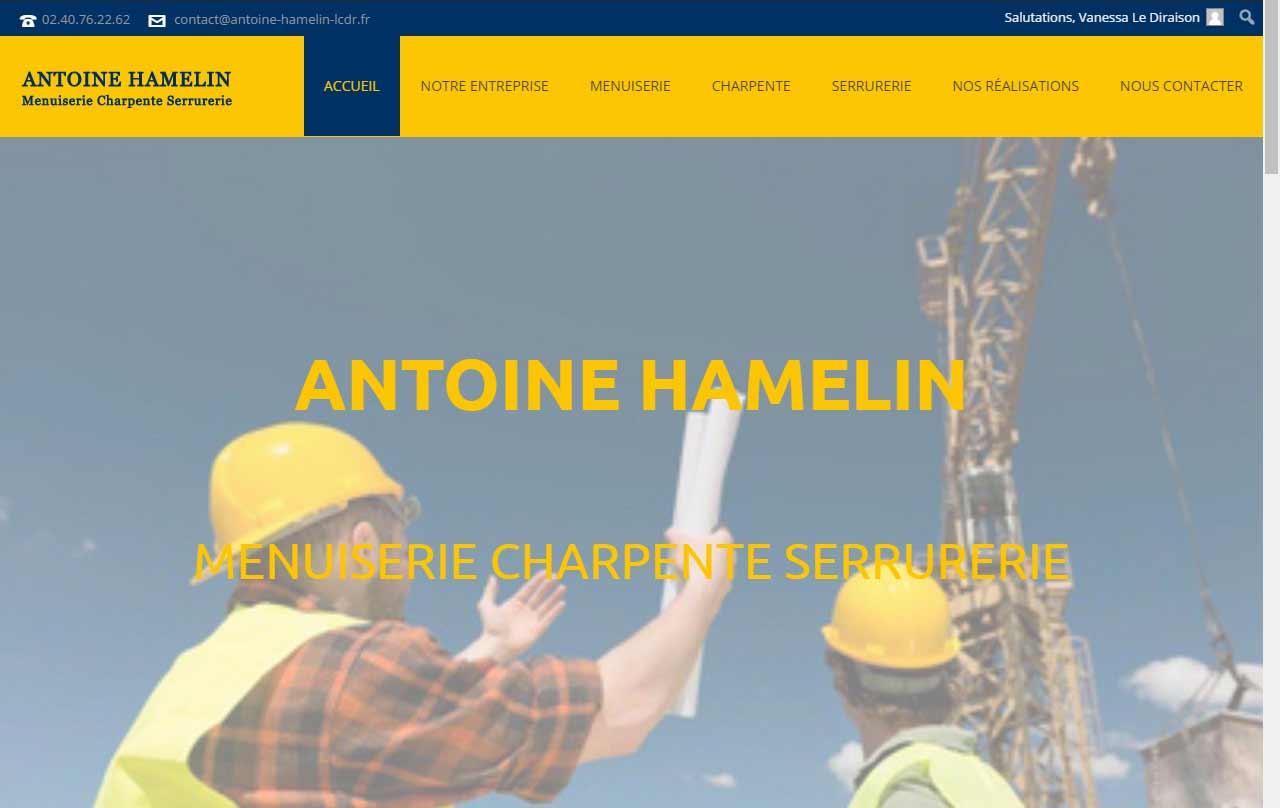 Création by Antiopa du site web de la société Antoine Hamelin, menuisier à Cheix en Retz