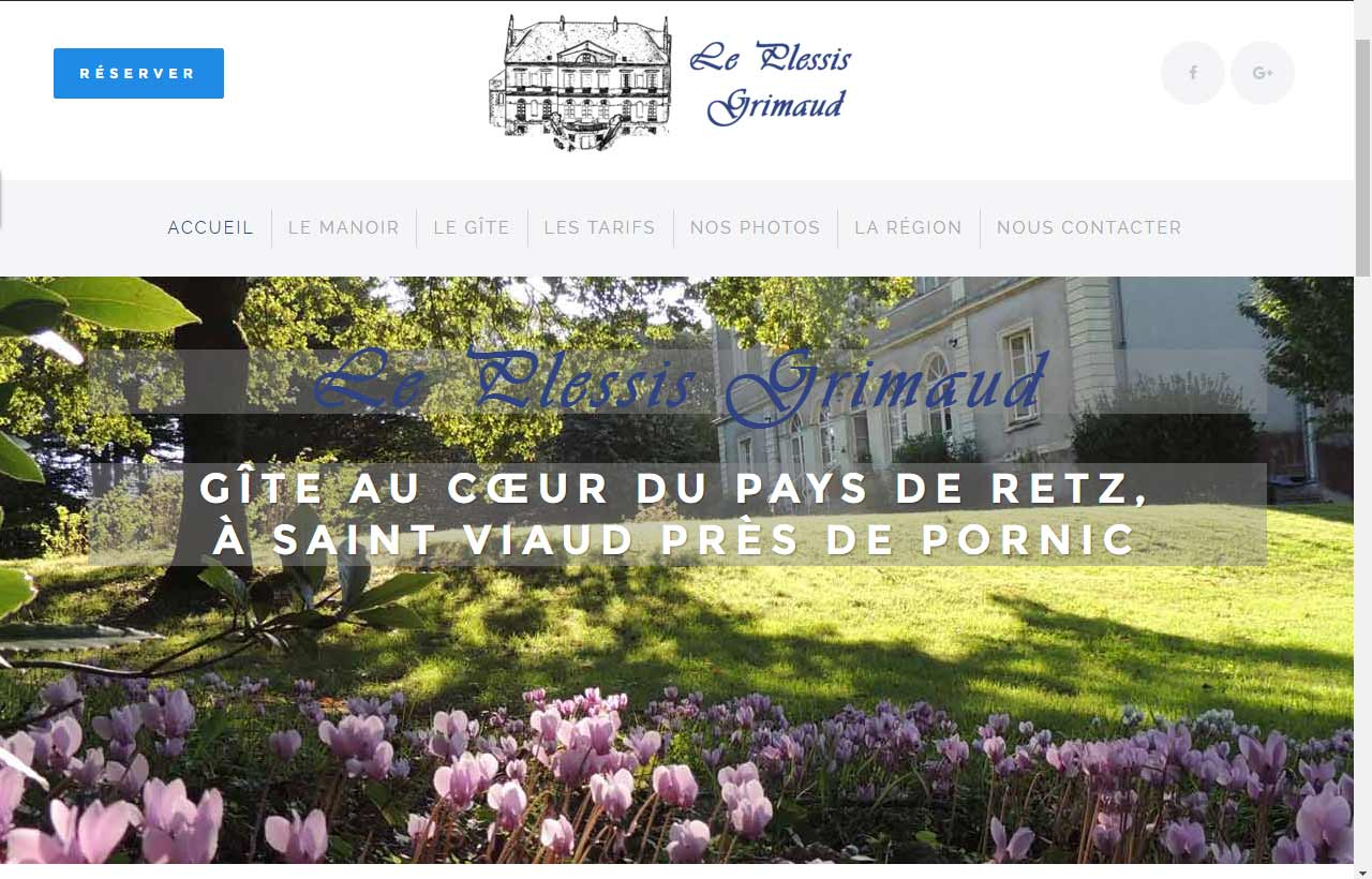 Création du site internet par Antiopa : Le Plessis Grimaud, gîte à Saint Viaud