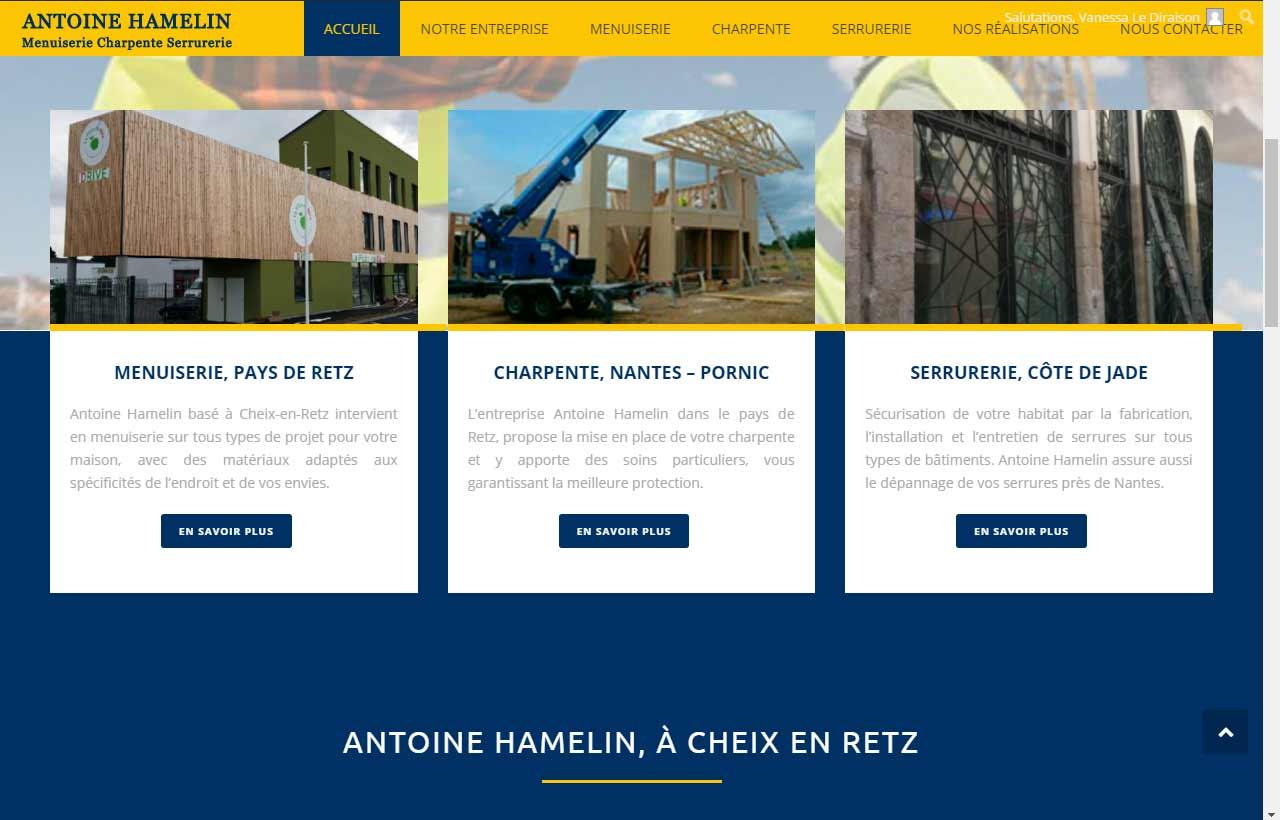 Antoine Hamelin, menuisier à Cheix en Retz en Loire Atlantique 44