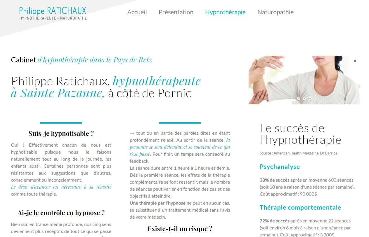 Antiopa creation du site internet hypnose ste pazanne