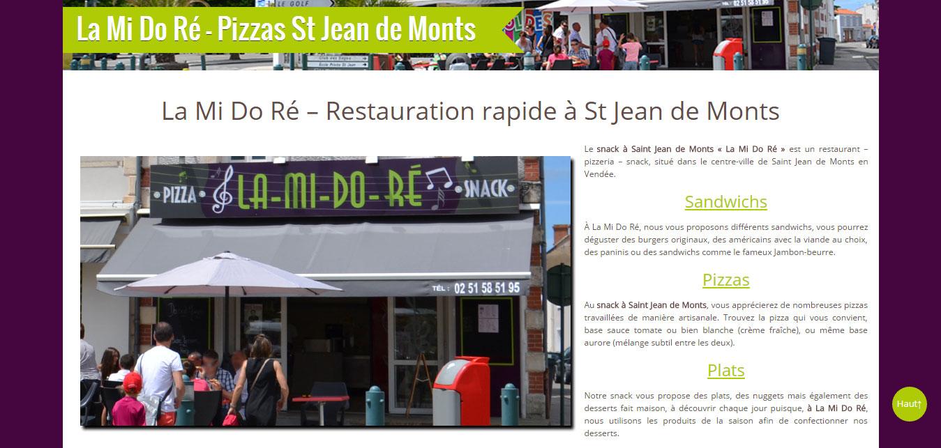 La Mi Do Ré à st jean de monts - pizzeria - snack - restaurant