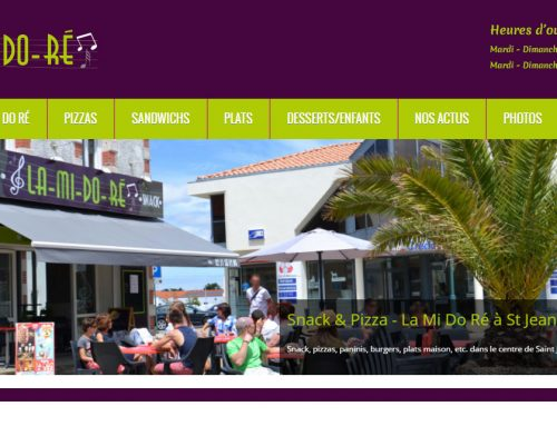 La Mi Do Ré, pizzeria – snack – restaurant à St Jean de Monts