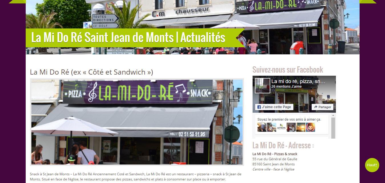 Pizzas St Jean de Monts à La Mi Do Ré - 85