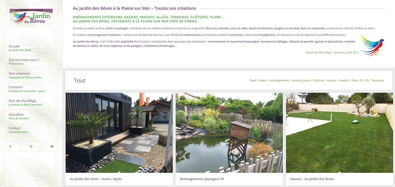 Création Internet Antiopa Jardin des Rêves