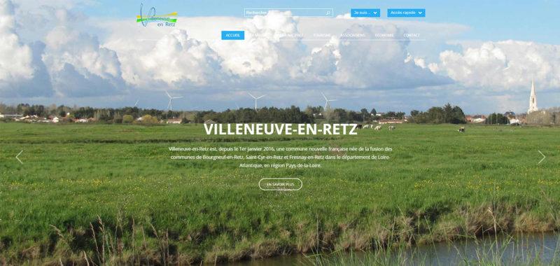 Mairie de Villeneuve-en-Retz Site internet Antiopa