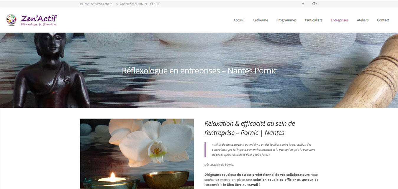 Réflexologue Sainte Pazanne Site Internet Antiopa