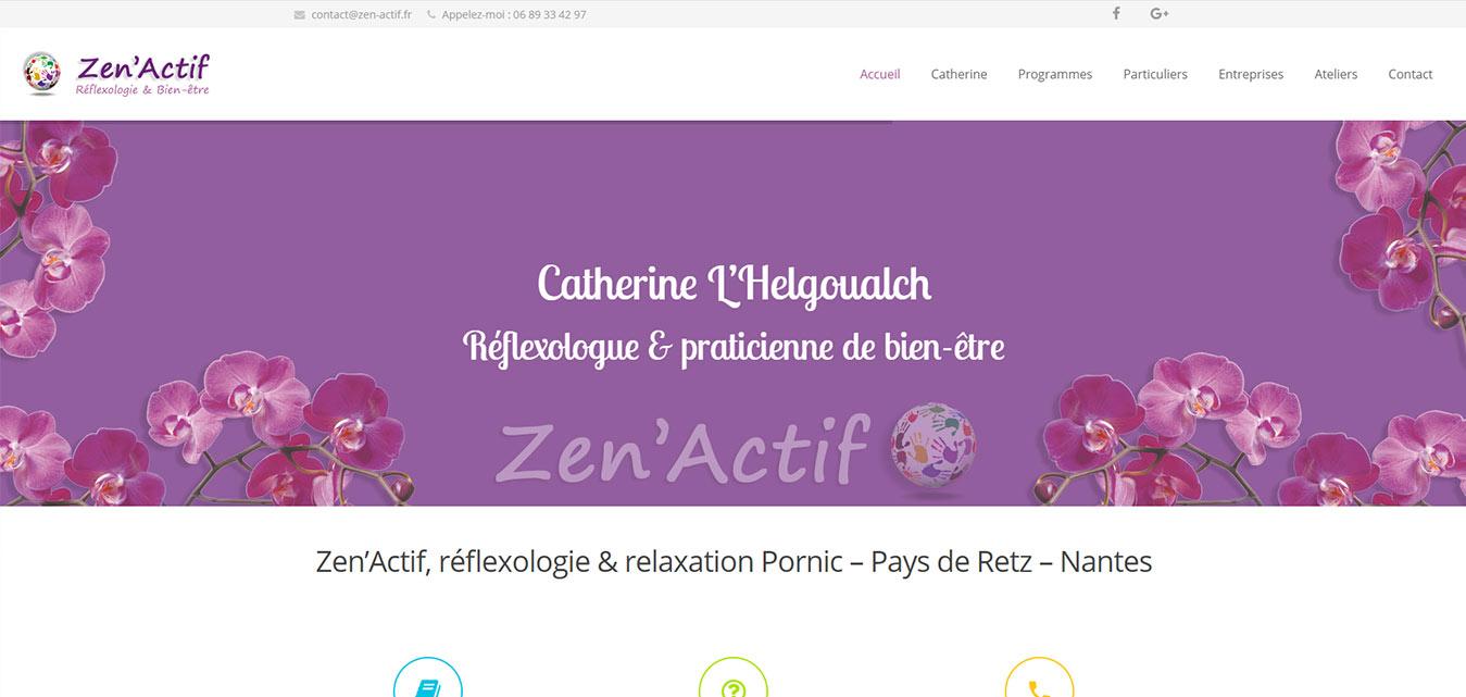 Zen Actif site internet Antiopa 44