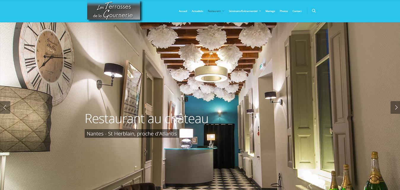 Terrasses de la Gournerie restaurant château à Nantes - St Herblain