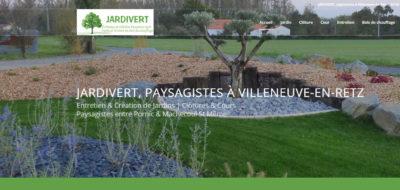 Antiopa site internet Jardivert paysagiste 44580