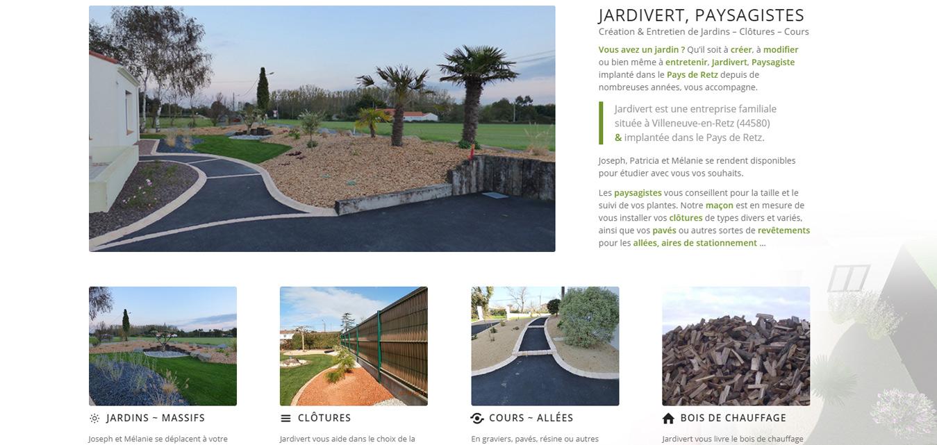 Création internet Antiopa Jardivert paysagiste 44 85