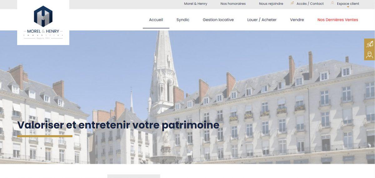 Site internet antiopa maintenance morel immobilier