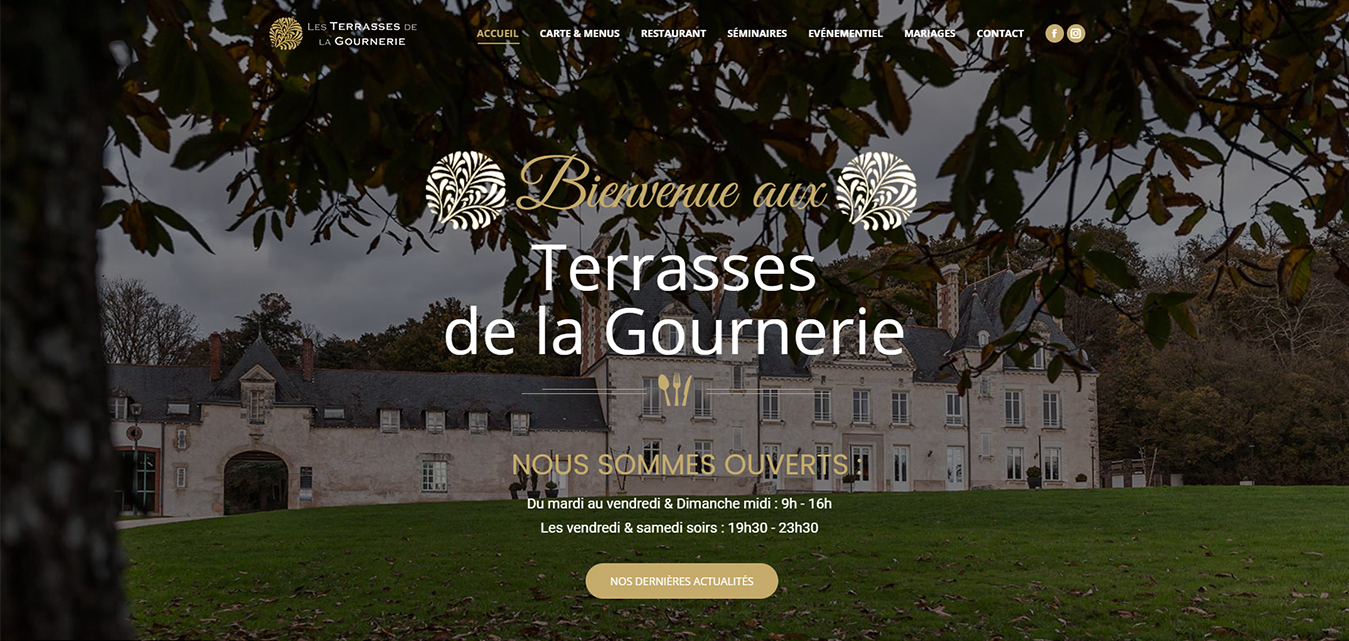 Les Terrasses de la Gournerie site internet création Antiopa Nantes