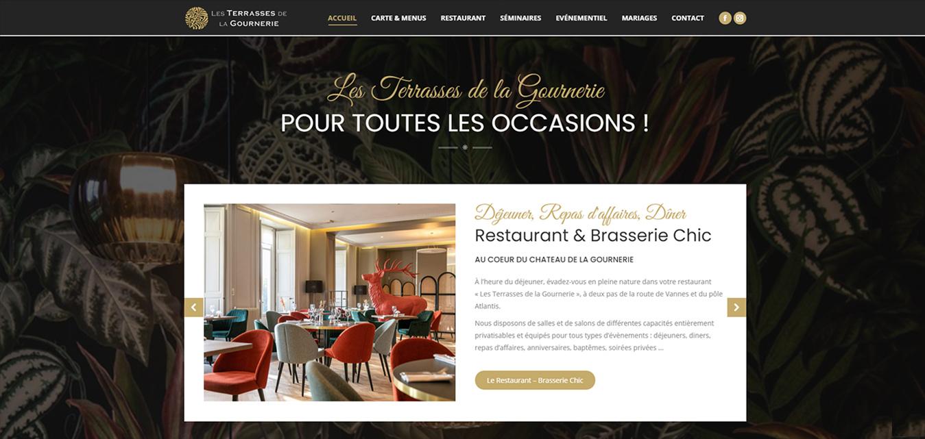 Nantes site internet création Antiopa Les Terrasses de la Gournerie